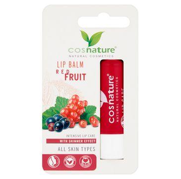 Cosnature Lip Care naturalny ochronny balsam do ust z ekstraktem z czerwonych owoców (4.8 g)
