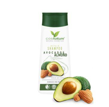 Cosnature – Repair Shampoo naturalny regenerujący szampon do włosów z awokado i migdałami (200 ml)