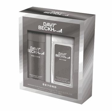 David Beckham – zestaw Beyond dezodorant naturalny w sprayu 75 ml + dezodorant 150 ml (1 szt.)