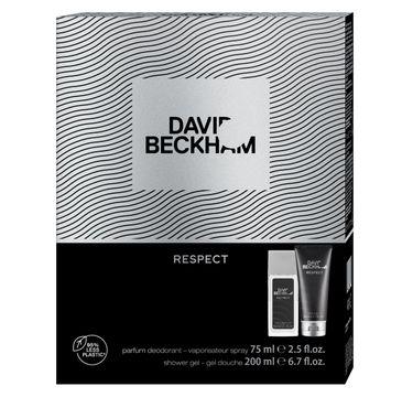 David Beckham Zestaw prezentowy Respect żel pod prysznic 200ml+deo naturalny spray 75ml