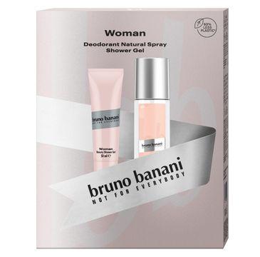 Bruno Banani Zestaw prezentowy Woman żel pod prysznic 50ml+deo naturalny spray 75ml