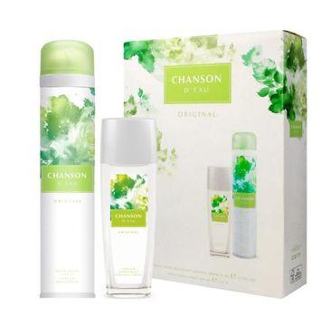 Chanson D'Eau – Zestaw dezodorant w sprayu (200 ml) + Odświeżający dezodorant z atomizerem (75 ml)
