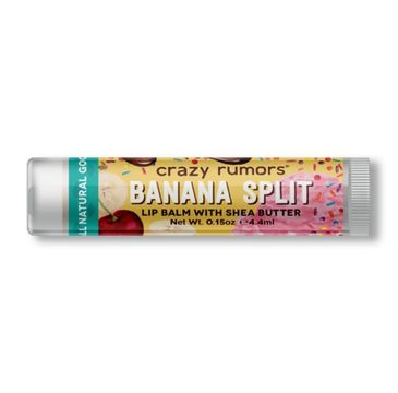 Crazy Rumors balsam do ust naturalny Banana Split (4.4 ml)