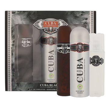 Cuba Original Cuba Black zestaw woda toaletowa spray 100ml + dezodorant spray 200ml + woda po goleniu 100ml (1 szt.)