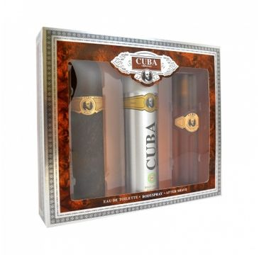 Cuba Original Cuba Gold zestaw woda toaletowa spray 100ml + dezodorant spray 200ml + balsam po goleniu 100ml