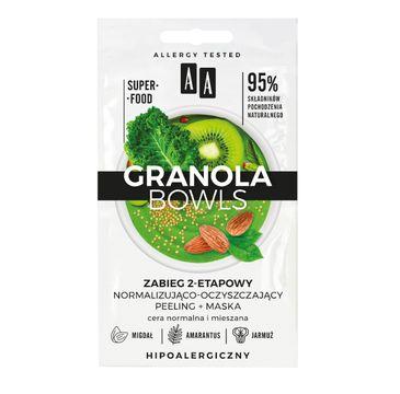 AA – Zabieg normalizująco-oczyszczający Granola Bowls detox peeling+maska cera normalna i mieszana (2 x 4 ml)