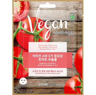 Lomi Lomi Vegan Sheet Mask – wegańska maseczka w płachcie Pomidor (20 ml)