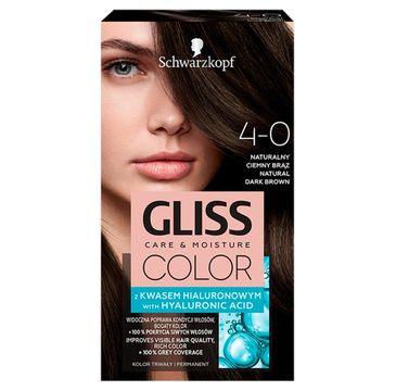 Gliss – Color (krem koloryzujący nr 4-0 Naturalny Ciemny Brąz 1 op.)