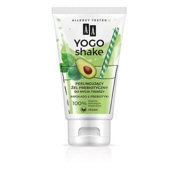AA Yogo Shake - peelingujący żel prebiotyczny do mycia twarzy Awokado & Prebiotyki (150 ml)