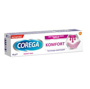 Corega – Komfort osłona krem mocujący do protez zębowych Miętowy Smak (40 g)