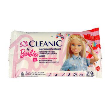 Cleanic – Chusteczki odświeżające Junior z płynem antybakteryjnym (15 szt.)