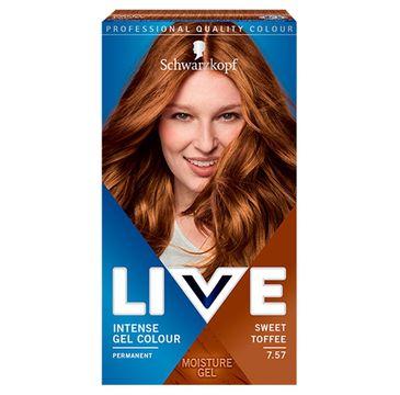 Schwarzkopf – Live Intense Gel Colour koloryzacja do włosów w żelu 7.57 Sweet Toffee (1 szt.)