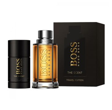 Hugo Boss Boss The Scent For Man Travel Edition – zestaw woda toaletowa spray (100 ml) + dezodorant sztyft (70 g)