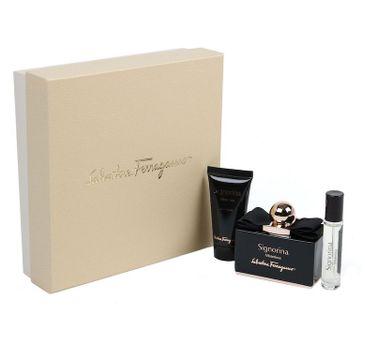 Salvatore Ferragamo – Signorina Misteriosa zestaw woda perfumowana spray + miniaturka wody perfumowanej + balsam do ciała (100 ml+10 ml+50 ml)