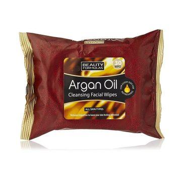 Beauty Formulas – Argan Oil Cleansing Facial Wipes oczyszczające chusteczki z olejkiem arganowym (30 szt.)