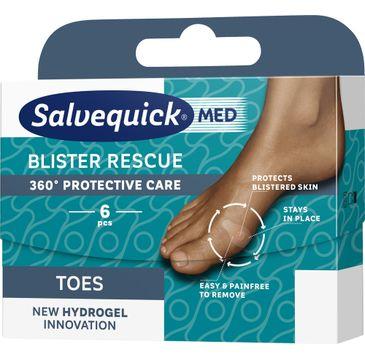 Salvequick – Blister Rescue Toes hydrożelowe plastry na pęcherze na palcach (6 szt.)