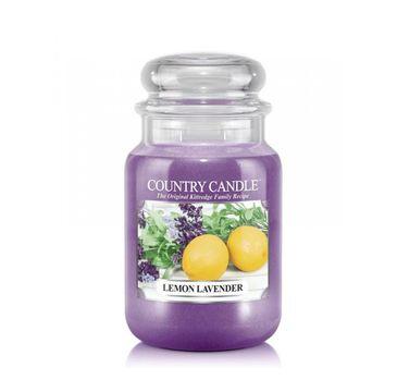 Country Candle – świeca zapachowa z dwoma knotami Lemon Lavender (652 g)