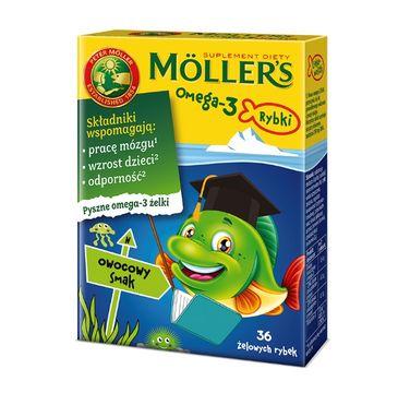 Möller's – Omega-3 Rybki żelki z kwasami omega-3 i witaminą D3 dla dzieci Owocowe (36 szt.)