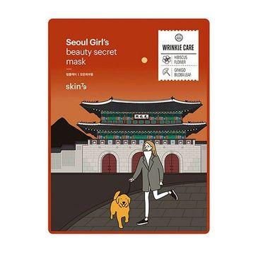 Skin79 Seoul Girl's Beauty Mask Wrinkle Care – maska w płacie przeciwstarzeniowa (20 g)