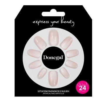 Donegal – Sztuczne paznokcie z klejem 3058 Express Your Beauty (24 szt.)