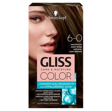 Gliss – Color (krem koloryzujący nr 6-0 Naturalny Jasny Brąz 1 op.)