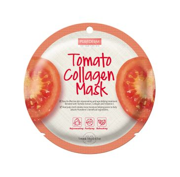 Purederm – Maseczka kolagenowa w płachcie Pomidor (18 g)
