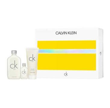 Calvin Klein – CK One zestaw woda toaletowa spray 100ml + miniatura wody toaletowej 15ml + żel pod prysznic 100ml (1 szt.)