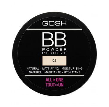 Gosh BB Powder – puder prasowany do twarzy 02 Sand (6.5 g)