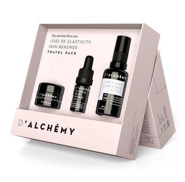 D'Alchemy Loss Of Elasticity Skin Renewer zestaw prezentowy krem do cery suchej i wrażliwej 15 ml + olejek do twarzy 5 ml + płyn micelarny 30 ml
