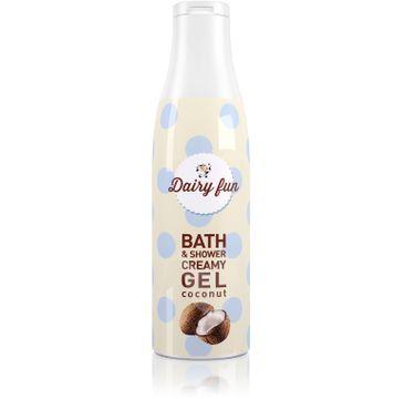 Dairy Fun kremowy żel pod prysznic i do kąpieli kokos 400 ml