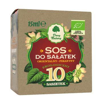 Dary Natury Ekologiczny Sos do sałatek orientalno-pikantny 10 saszetek
