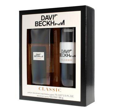 David Beckham Classic zestaw prezentowy dezodorant spray 150 ml + dezodorant naturalny spray 75 ml