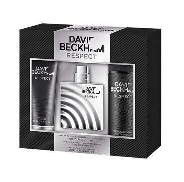 David Beckham Respect zestaw woda toaletowa spray 90ml + żel pod prysznic 200ml + dezodorant spray 150ml