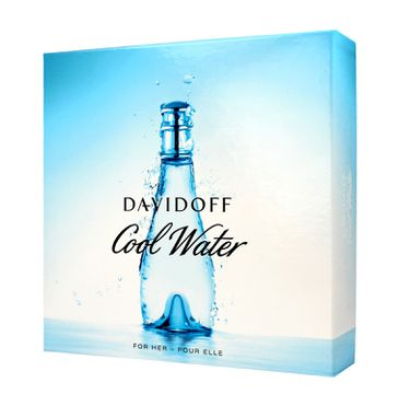 Davidoff Cool Water Woman Zestaw prezentowy woda toaletowa 100 ml + żel pod prysznic 75 ml + balsam do ciała 75 ml
