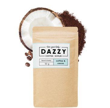 DAZZY Peeling kawowy do twarzy i ciała - Kokos 50 g