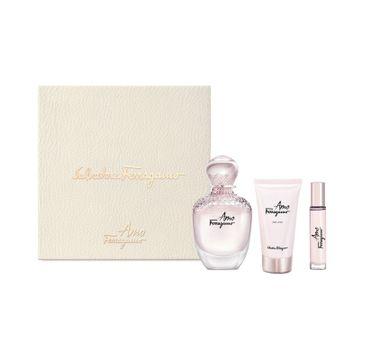 Salvatore Ferragamo Amo Ferragamo – zestaw woda perfumowana spray (100 ml) + balsam do ciała (50 ml) + miniatura wody perfumowanej (10 ml)