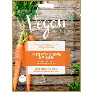 Lomi Lomi Vegan Sheet Mask – wegańska maseczka w płachcie Marchew (20 ml)