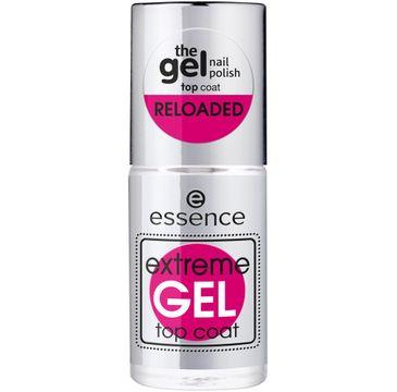Essence – Extreme Gel Top Coat żelowy lakier nawierzchniowy do paznokci (8 ml)