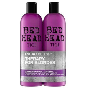 Tigi Therapy For Blondes – zestaw szampon do włosów blond (750 ml) + odżywka do włosów blond (750 ml)