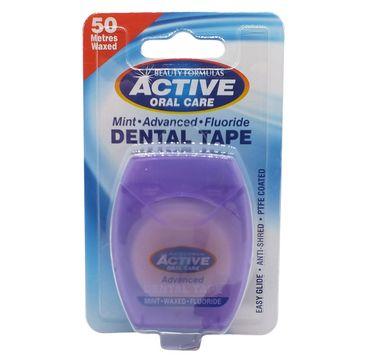 Active Oral Care – Dental Tape taśma miętowa woskowana z fluorem (50 m.)
