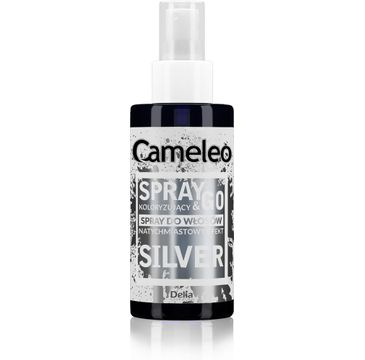 Delia Cameleo Spray&Go spray koloryzuj膮cy do w艂os贸w Silver (150 ml)