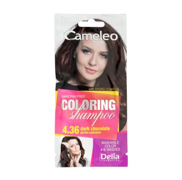 Delia Cameleo Szampon koloryzujÄ…cy 4.36 Gorzka Czekolada (40 ml)