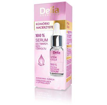 Delia Cosmetics 100% Komórki Macierzyste serum do twarzy szyi i dekoltu odbudowujące 10 ml