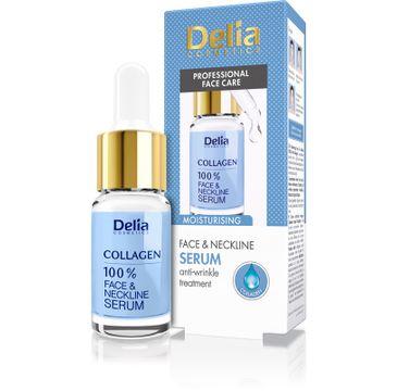 Delia Cosmetics 100% serum do twarzy szyi i dekoltu kolagenowe odmładzające 10 ml
