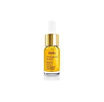 Delia Cosmetics 100% serum do twarzy szyi i dekoltu odmładzające z witaminą A E i F 10 ml