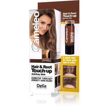 Delia Cosmetics Cameleo Hair&Root Touch-up korektor tuszujący odrosty i siwe włosy - jasny brąz 1 szt.
