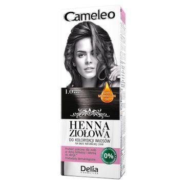 Delia Cosmetics Cameleo henna ziołowa nr 1.0 czarny (75 g)