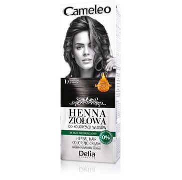 Delia Cosmetics Cameleo henna ziołowa nr 1.0 czarny 75 g