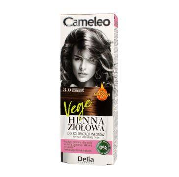 Delia Cosmetics Cameleo henna ziołowa nr 3.0 ciemny brąz (75 g)