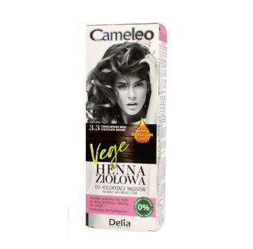Delia Cosmetics Cameleo henna ziołowa nr 3.3 czekoladowy brąz (75 g)